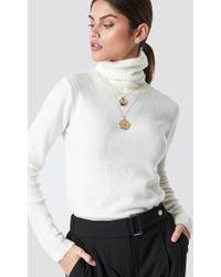 Top Secret - Knitted Turtleneck Beige - Lyst