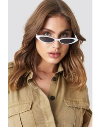 Mango - Alanis Sunglasses White - Lyst
