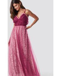 True Decadence - Pleated Maxi Dress - Lyst