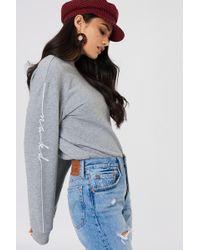 NA-KD - Branded Sweatshirt - Lyst