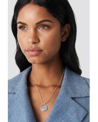 NA-KD - Zodiac Aquarius Necklace Silver - Lyst