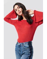 Rut&Circle - Vanessa Back V-neck Knit Red - Lyst