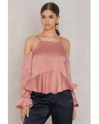 True Decadence - One Shoulder Cami Top Copper - Lyst