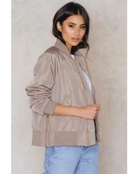 NA-KD - Side Zippers Bomber Jacket - Lyst