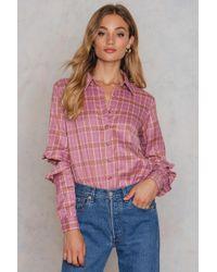 Glamorous - Distressed Sleeve Shirt - Lyst