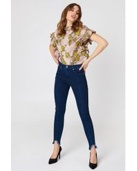 NA-KD - Rounded Hem Panel Jeans - Lyst