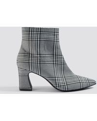 NA-KD - Checked Ankle Boots - Lyst
