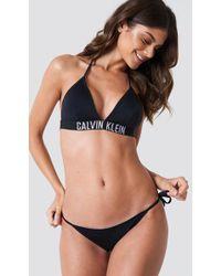 Calvin klein swimwear black bikini cover tie