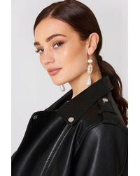 Mango - Pearl-effect Crystal Earrings - Lyst
