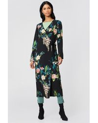 Rut&Circle - Siri Satin Kimono Black Combo - Lyst