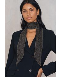 NA-KD - Knitted Glitter Scarf - Lyst