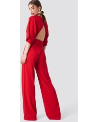 Trendyol - Open Back Jumpsuit - Lyst