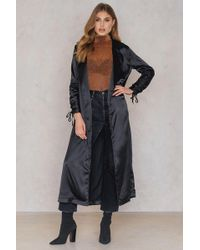 Boohoo - Ruched Sleeve Duster - Lyst