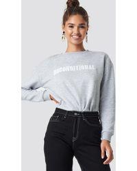 Mango - Embroidered Cotton Sweatshirt - Lyst