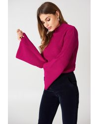 Glamorous - Long Sleeve Knitted Top - Lyst