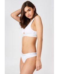 Calvin Klein - Cotton Thongs White - Lyst