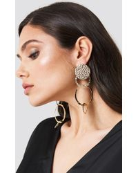 NA-KD - Hanging Structured Circles Earring - Lyst