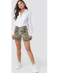 NA-KD - Animal Printed Cycle Shorts Snake Print - Lyst