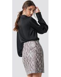 f2203041d8 NA-KD - Snake Print Mini Skirt Tan Snake - Lyst