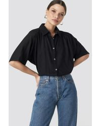 NA-KD - Short Sleeve Shirt Black - Lyst