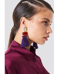 Trendyol - Stone Tassel Earrings - Lyst