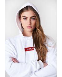 NA-KD - Logo Hoodie White - Lyst