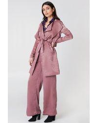 Lavish Alice - Shiny Trenchcoat Pink - Lyst