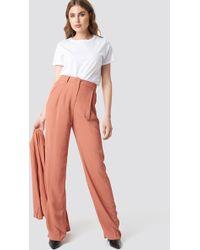 Mango - Pinky Trousers Terracotta - Lyst
