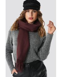 Rut&Circle - Fringe Scarf Wine Red - Lyst