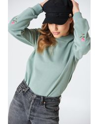 NA-KD - Rose Elbow Embroidery Sweater - Lyst