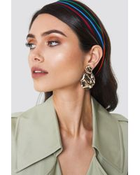NA-KD - Structured Drop Back Earring Gold - Lyst