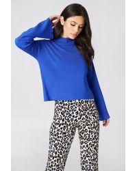 NA-KD - High Neck Wide Sleeve Sweater Cobolt - Lyst