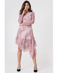 Keepsake - Hold On Ls Dress Blush - Lyst