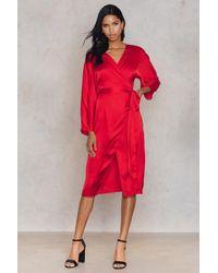 NA-KD | Kimono Wrapped Dress | Lyst