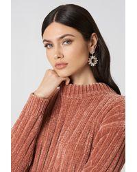 NA-KD - Jewel Flower Drop Earrings - Lyst