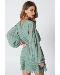 NA-KD - Lace Up Lace Dress - Lyst