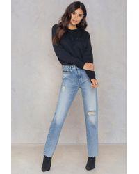 CALVIN KLEIN 205W39NYC - Hr Straight Ankle Raw Jeans - Lyst