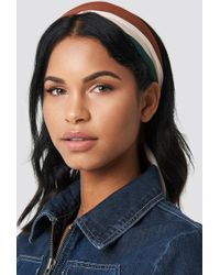 NA-KD - Striped Hair Scarf Rustic Red - Lyst