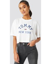 6b0ef12eb Tommy Hilfiger - Collegiate Tee Classic White - Lyst