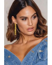 NA-KD | Hanging Row Stone Earrings | Lyst