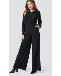 Trendyol - Button Detailed Tulum Jumpsuit Black - Lyst