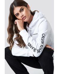 Calvin Klein - Institutional Regular Hoodie Bright White - Lyst