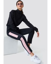 NA-KD - Blocked Track Pants Black - Lyst