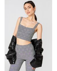 NA-KD - Chequered Bustier - Lyst