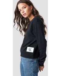 Calvin Klein - Harrisi True Icon Crew Neck Ck Black/bright White - Lyst