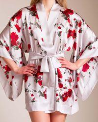 Meng - Short Silk Kimono - Lyst