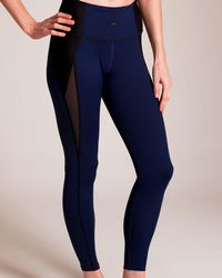 f053b8250aed9 J.Crew Collection Leather Leggings In Tuxedo Stripe in Black - Lyst