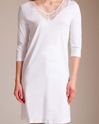 Hanro - Valencia 3⁄4 Sleeve Gown - Lyst