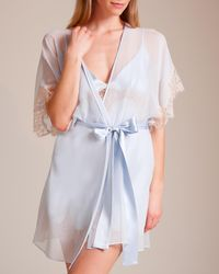 Christine - Something Blue Short Robe - Lyst