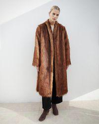Nanushka - Faux Fur Robe Coat - Lyst